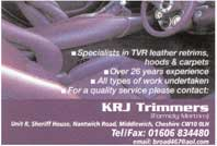 specialists in TVR leather retrims - hoods & carpets