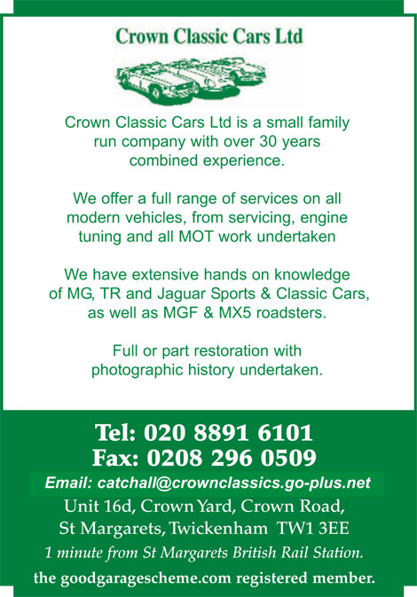 MOT, servicing, tuning, repairs for the modern car